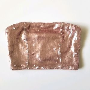 NWT Forever 21 Sequin Cropped Tube Top